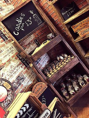 Wooden Handcrafted Shop Candle Soap Bath Bomb Display Unit