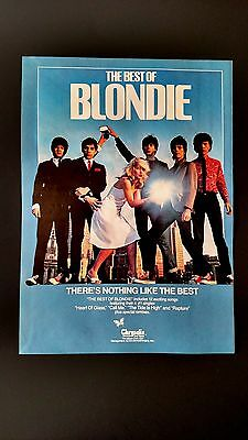 """The Best Of Blondie  """"heart Of Glass"""" (1981) Rare Original Print Promo Poster Ad"""