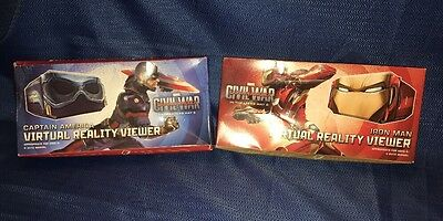 IRON MAN & CAPTAIN AMERICA Virtual Reality Viewers Marvel Kellogg's CIVIL WAR 3D