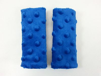 Royal Blue Minky Infant/Toddler Car Seat Strap Covers - Reversible