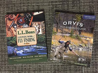 2 Fly Fishing Books, LL Bean Ultimate Book Fly Fishing, Orvis Fly Fishing Guide