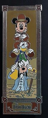 Disney Pin Haunted Mansion Stretch Room Mickey Donald Goofy Quicksand