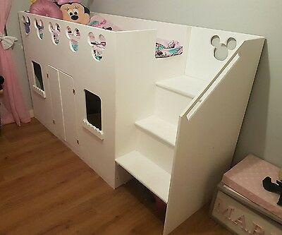 Mickey Mouse Playhouse Bed (Custom Made) MDF