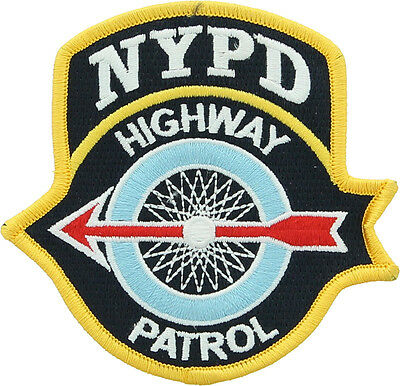 NYPD Highway Patrol New York Police Department Official Iron On Shoulder Patch