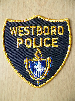 Patches: WESTBORO POLICE PATCH(NEW, apx. 3.12x3.6)