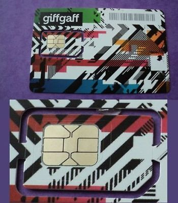 Promo: Giffgaff -O2- Pay As You Go Sim Card Pack Uk Standard Micro Nano 5£ Free