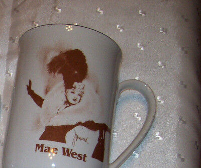 Cup..mug..tankard..hollywood..mae West..collector Hall Of Fame Museum..gold Trim