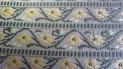 Vintage Italian Braiding in Yellow Floral 1 m x 4 cm Wide ( I have 17 mtrs)