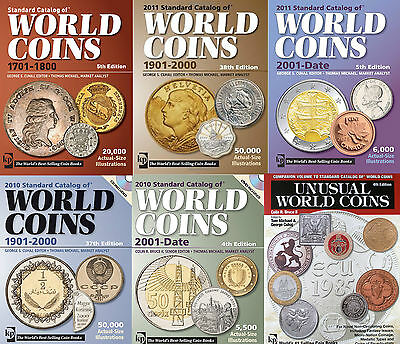 Krause Standard Catalog Of World Coins 5 Catalogues 1601-2010 + Bonus On Dvd