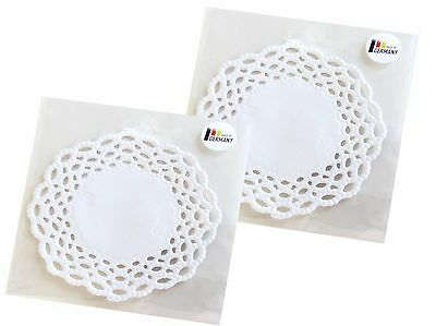 Cup mats White in Basket Dekor rund 10 cm, 12 Pieces/Packung Lace cover