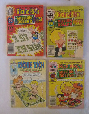 Pile of 11 RICHIE RICH Digest and 2 Paperbacks