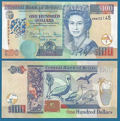 Belize 100 Dollars 2016 UNC P 71 New, Low Shipping! Combine FREE!