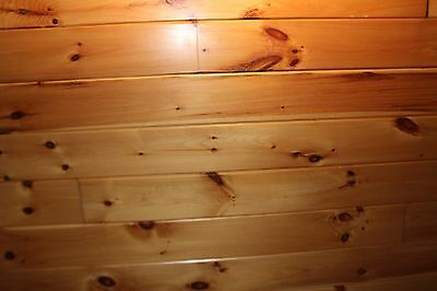 Tongue & Groove Knotty Pine Siding, 1 x 8 - 156 linear foot - Prefinished