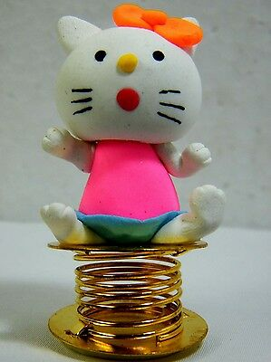 Wobble Cat Bobble Spring Car Dashboard Polymer Clay Sculpted Novelty