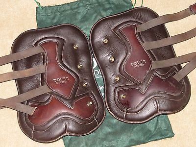 L@@K~Neoprene Lined Leather DOVER Open Front Jumping Boots~Stud Closure~Sz 4~EUC