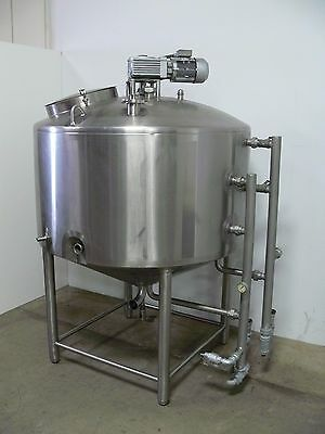 300 Gallon Pasteurizer Tank w/ Side Sweep Agitator Stainless 100 PSI Jacketed