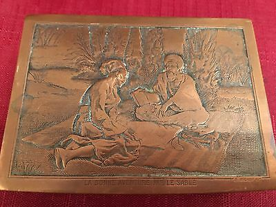 Beautiful ESTATE Pre-1930s  Antique Copper and Brass Cigarette Box