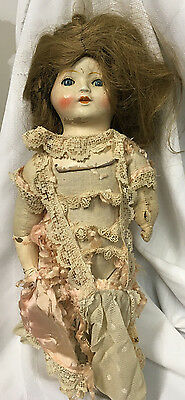 Antique, Ideal Doll, Composition, Cloth body, tin eyes, good for parts