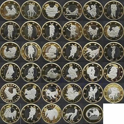 "FULL SET OF 34 x 6 Euros Coin COLLECTOR ""EURO SEX"" Medal **UK SELLER**"