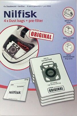 Nilfisk Genuine Vacuum Cleaner Bags suits  Elite, Extreme, GM300/400/500 King Se