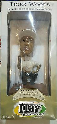 New Tiger Woods Upper Deck Premium Play makers white Shirt RARE Bobble Head