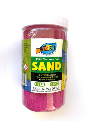 Magenta Colour Art Sand 600g Bottle Great for School & Home & Party Craft Sand