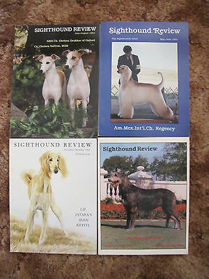 4 VINTAGE SIGHTHOUND REVIEW DOG MAGAZINES D Whippets-Greyhounds, Basenji, Afghan