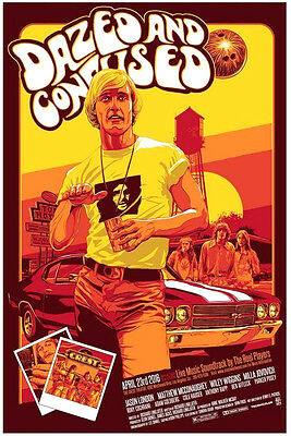 Dazed And Confused Mcconaughey Silk Screen Movie Poster Mondo Kelly 8/150 Crest