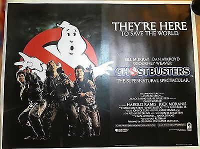 GHOSTBUSTERS | Rare 1984 original British Quad film poster [linen backed]