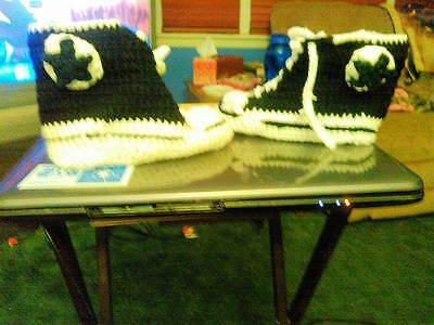 Crocheted Converse Slippers Size 6-10