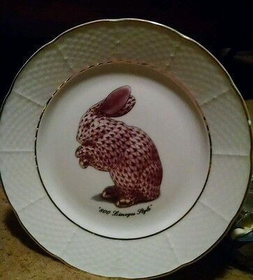 800 Limoges Style Bunny Plate St. Martin Email de Limoges