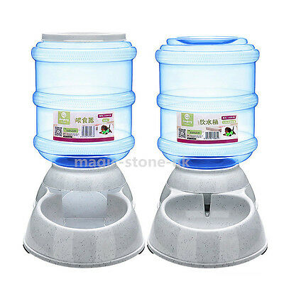3.5L Large Automatic Bowl Water Drinker Dispenser Pet Dogs Cat Puppy Feeder Dish