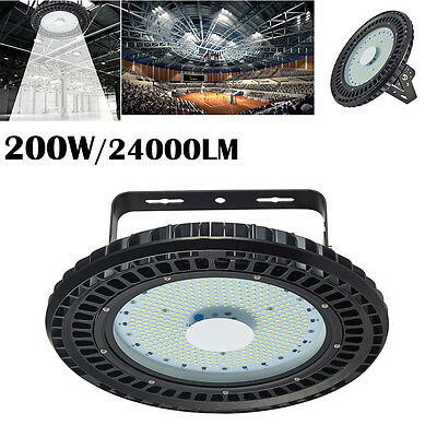 200W UFO LED High Bay Light Factory Warehouse Gym Shed Lighting Industrial lamp