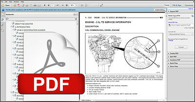 2005 - 2008 Jeep Grand Cherokee 3.0L V6 Turbo Diesel Crd Service Repair Manual