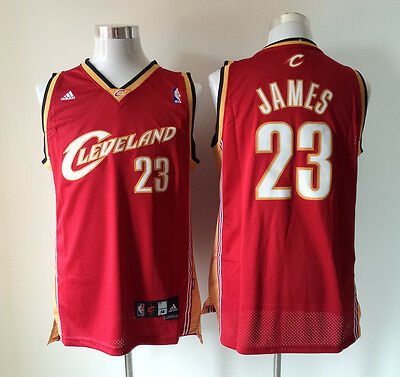 New Red Cleveland Cavaliers #23 LeBron James Basketball Jerseys Size:S-XXL