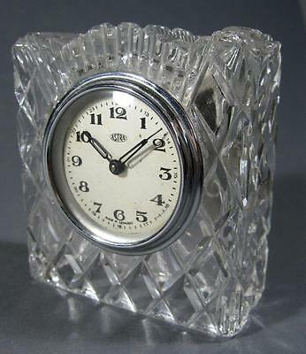 Vintage art deco Astra crystal clock wind up Made in Germany