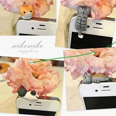 Dust Plug Cat Catch Cute 3.5mm Universal Phone Tablet Charm Earphone Jack Plug