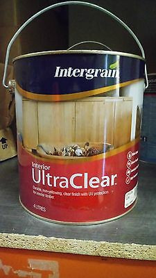 Intergrain By Dulux  Ultraclear Interior 4 Litres Gloss Water Based Paint