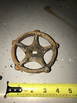 Industrial Antique Gear Wheel Spigot Valve Steampunk!! Metal Ornate!!! Nice