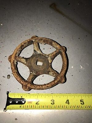 Industrial Antique Gear Wheel Spigot Valve Steampunk!! Metal Ornate!!! Antique