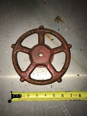 Industrial Antique Gear Wheel Spigot Valve Steampunk!! Metal Ornate!!! Vintage 5