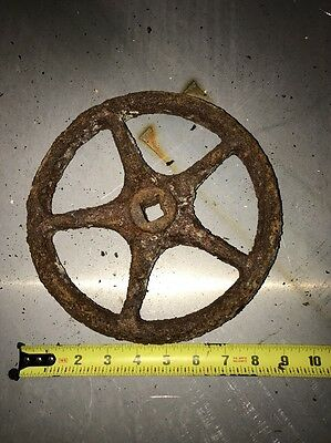 Industrial Antique Gear Wheel Spigot Valve Steampunk!! Metal Ornate!!! Vintage 6