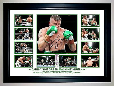 "Danny ""the Green Machine"" Green Boxing Photo Collage Signed Print Or Framed"