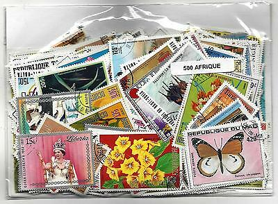 AFRICA stamps 500 Different most large stamps 90% used CTO