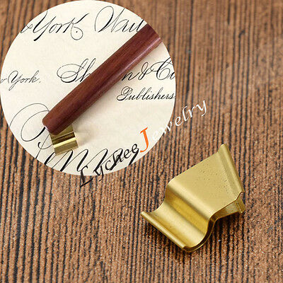 Oblique Flange for Dip Pen Holder English Writting Calligraphy Gold Stationery
