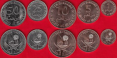 "Qatar set of 5 coins: 1 - 50 dirhams 2016 ""Tamim"" UNC"