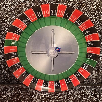 Roulette Whell Glass Plate - Casino Nights - Luminarc - France