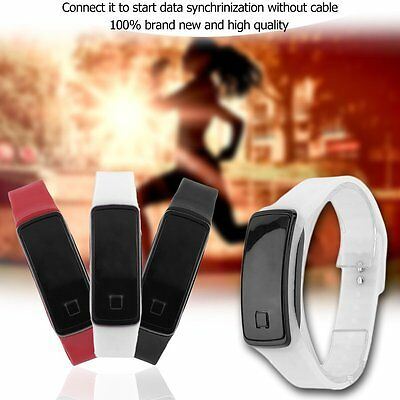 Super Lightweight LED Touch Sport Running Soft Silicone Smart Wristaband AU