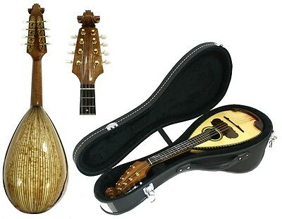Solid Spruce Maple Bowl Back Mandolin, free Hard Case NBMI57@!