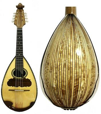 Solid Spruce Maple Bowl Back Mandolin, free Hard Case NBMI59@!